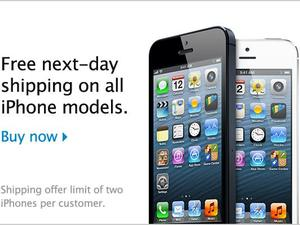 Apple Offering Free Next-Day Shipping on All iPhone Orders