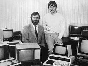 Bill Gates, Paul Allen Recreate Famous Microsoft Photo After 32 Years
