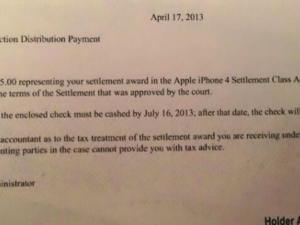 "$15 iPhone 4 ""Antennagate"" Checks in the Mail"