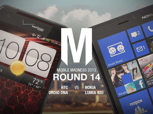 HTC Droid DNA/Butterfly vs. Nokia Lumia 920 - Round 14 - Mobile Madness 2013