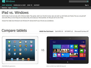 Microsoft's New WebPage Shows Windows 8 Tablets Owning The iPad