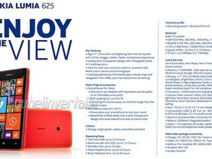Nokia Lumia 625 Press Photo Leaks Ahead of Official Launch