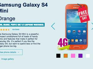 Orange, Pink and Purple Galaxy S4 Minis Available at Carphone Warehouse