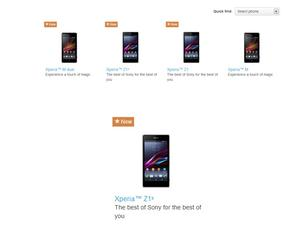 Xperia Z1s Smartphone Briefly Appears on Sony's Website