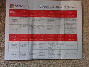 """Microsoft's Entire """"12 Days of Deals"""" Schedule Leaks"""
