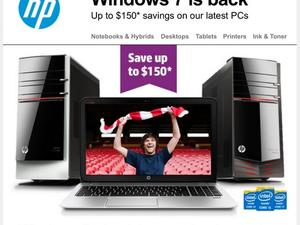 HP Pushing Windows 7 Computers With New Promotion