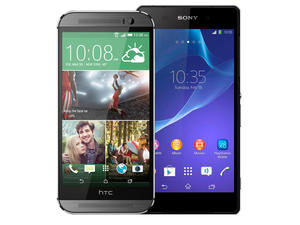 HTC One (M8) vs. Sony Xperia Z2 Spec Shootout