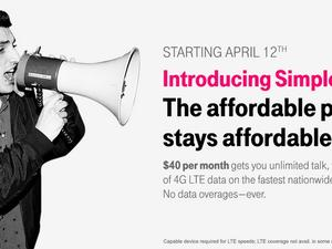 T-Mobile Simple Starter Plan Offers LTE Data for $40 Per Month