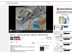 People Are Selling Stolen Credit Cards on YouTube