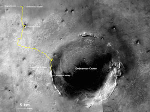 NASA's Opportunity Rover Breaks Off-World Driving Record