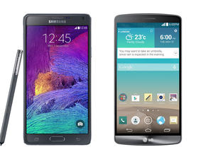 Galaxy Note 4 vs. LG G3 Spec Shootout