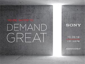 """Sony Mobile Hosting Event Oct. 9, Tells Us to """"Demand Great"""""""