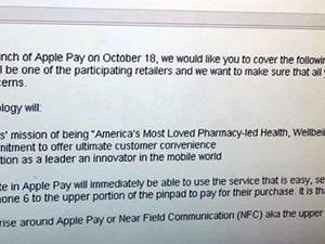 Leaked Memo Says Apple Pay is Coming to Walgreens on Oct. 18