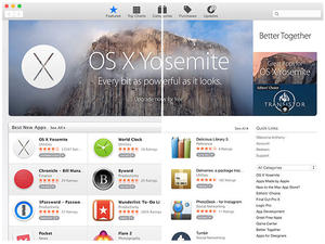 Apple Updates the Mac App Store for OS X Yosemite