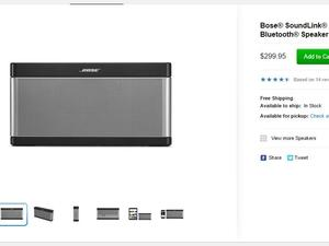 Bose Products Return to the Apple Online Store
