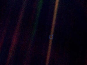 A lonely pixel: Iconic 'Pale Blue Dot' image turns 25