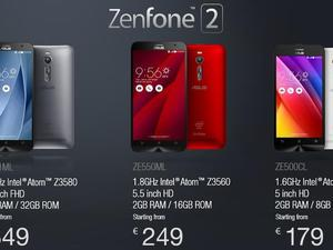 ASUS Zenfone 2 arrives in Europe with prices starting at $193