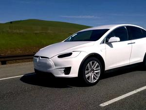 Tesla Model X spotted on the highway