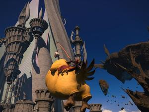 Final Fantasy XIV: Heavensward features flying fat chocobos