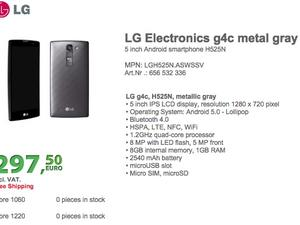 LG G4c specs, picture and price get leaked online
