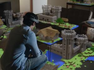 """HoloLens' field of view is like standing 2 feet away from a 15"""" monitor, says Microsoft"""
