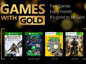 Xbox Games with Gold for July includes Assassin's and Gears