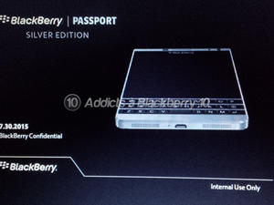 BlackBerry Passport 'Silver Edition' leaks out ahead of official debut
