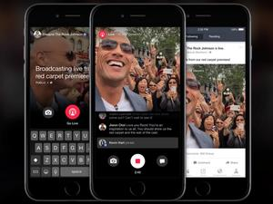 Facebook adds live streaming feature, but only for celebrities