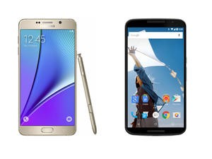 Galaxy Note 5 vs. Nexus 6 Spec shootout — Android phablet showdown