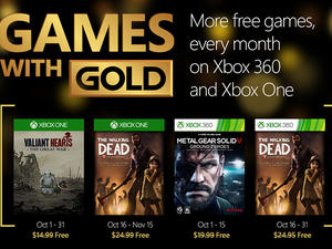 Games with Gold for October includes Metal Gear, The Walking Dead