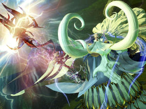 Dissidia Final Fantasy screenshots - Mammoth or the lightning God Ramuh?