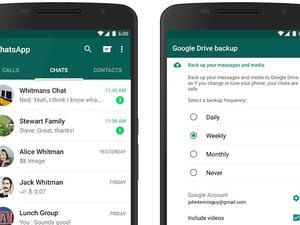 WhatsApp update allows users to backup conversations to Google Drive