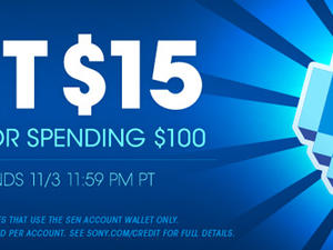 Sony giving you $15 if you spend $100 in October