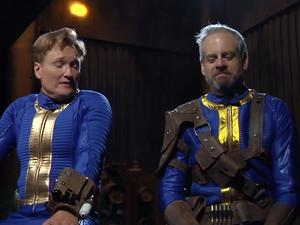 Conan gets dressed up in Fallout 4 gear for his latest Clueless Gamer