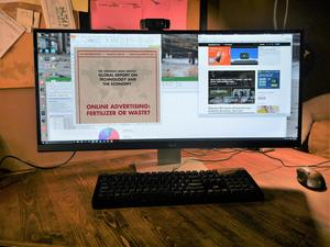 Living on a double wide: Embracing extra-wide, curved monitors