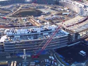 Apple Campus construction revealed in awesome new drone video