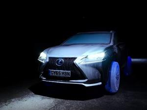 Lexus SUV driving on ice wheels will blow your mind