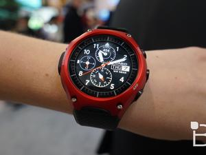 Casio's Android Wear watch looks hilarious on tiny wrists