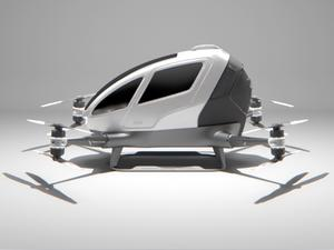Would you ride in this drone made for human transport?