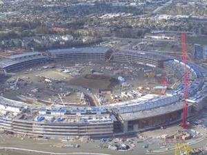 Awesome drone video shows Apple's Campus 2 construction in action