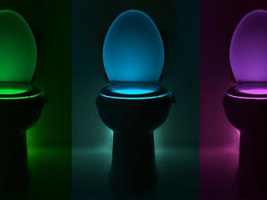 IllumiBowl Toilet Night Light turns your bathroom into a sci-fi movie set - just $16.99