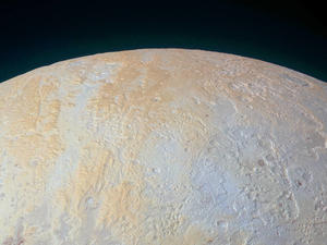 NASA reveals incredible image of Pluto's frozen canyons