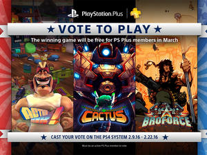 PlayStation Plus members can vote for free March game