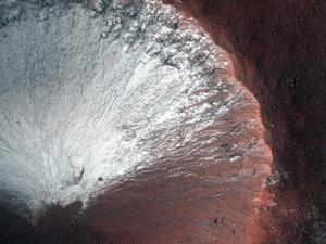 Ice cold: New data suggests Mars recently came out of an ice age