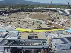 Apple's Campus 2 construction speeds along in 4K drone video