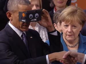 Video: Obama wowed by Google Cardboard VR experience