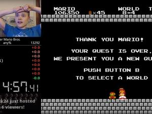 Speedrunner beats Mario Bros. word record while wearing heart rate monitor