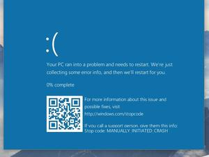 Windows 10's blue screen of death is getting QR codes