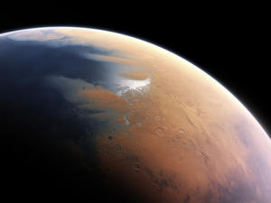 Sheets of water ice lurk beneath Mars surface