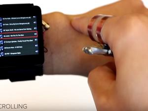 Awesome invention turns your arm into a smartwatch touchpad